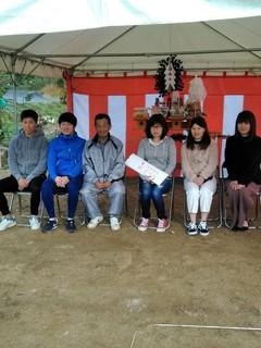 赤磐市佐古にて金光様邸地鎮祭を執り行いました。早朝で霧が凄かったけど、晴れて良.jpg
